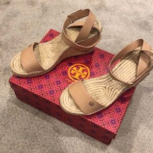 Tory Burch Espadrille Wedge SIZE 10